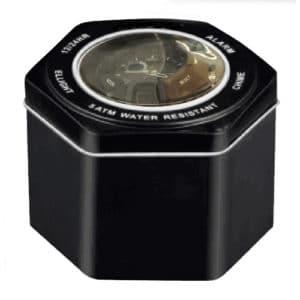Essential Gear Waterproof Sports Watch tin.