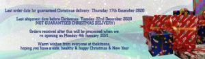 www.thekitzone.co.uk christmas closing