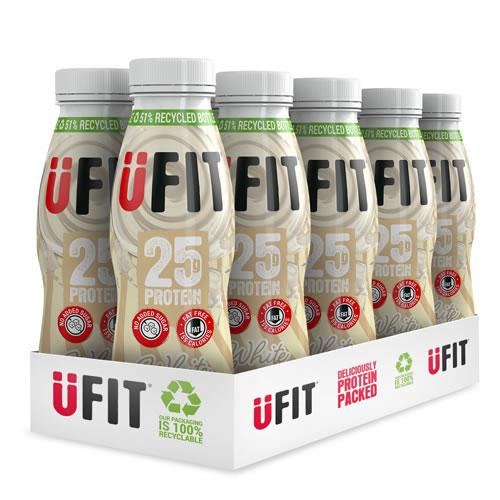 UFIT 25g White Chocolate 330ml case